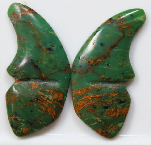 26.80 CT JASPER PAIR POLISHED BUTTERFLY GREAT RANGE IN STORE