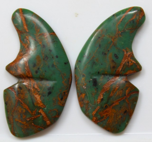 22.45 CT JASPER PAIR POLISHED BUTTERFLY GREAT RANGE IN STORE