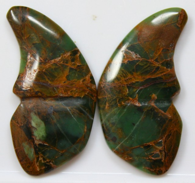 33.70 CT JASPER PAIR POLISHED BUTTERFLY GREAT RANGE IN STORE