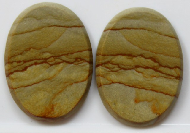 30.30 CTS JASPER PAIR POLISHED STONES GREAT RANGE IN STORE