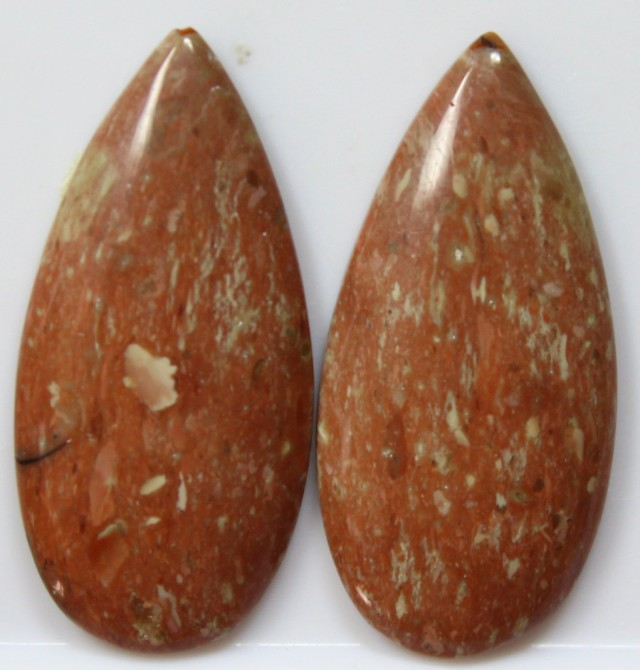 31.10 CTS JASPER PAIR POLISHED STONES GREAT RANGE IN STORE