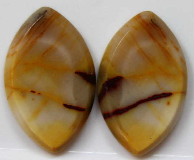 25.00 CTS JASPER PAIR POLISHED STONES GREAT RANGE IN STORE