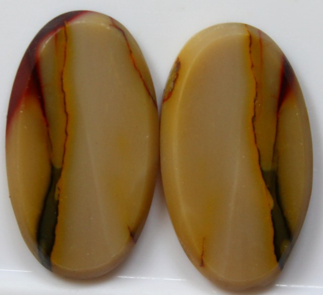 31.85 CTS JASPER PAIR POLISHED STONES GREAT RANGE IN STORE