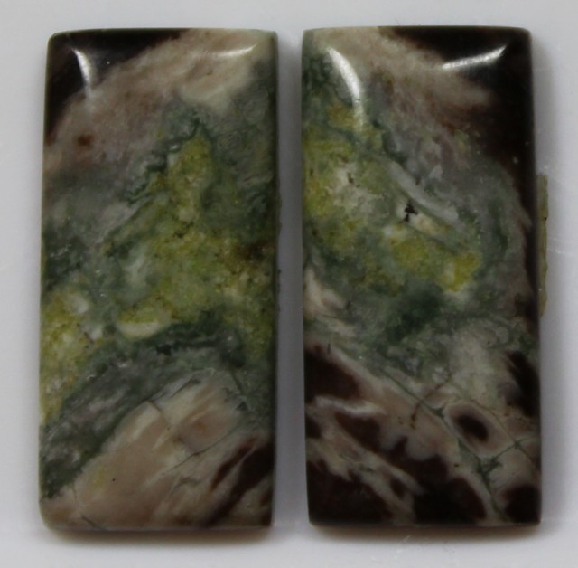 14.95 CTS JASPER PAIR POLISHED STONES GREAT RANGE IN STORE