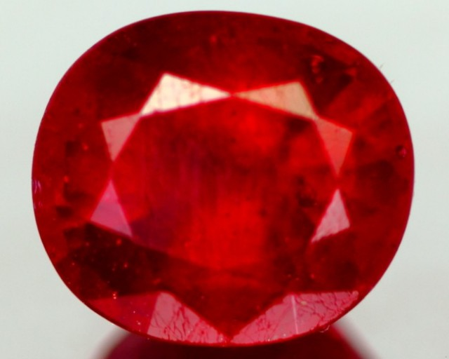 3.84Ct Huge Cherry Blood Red Madagascar Ruby