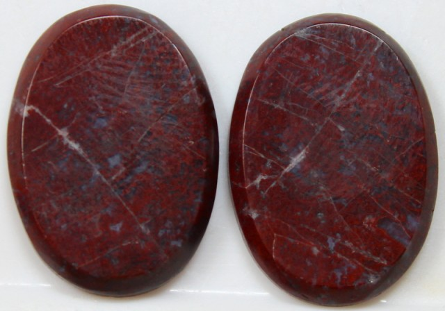 30.45 CTS JASPER PAIR POLISHED STONES GREAT RANGE IN STORE