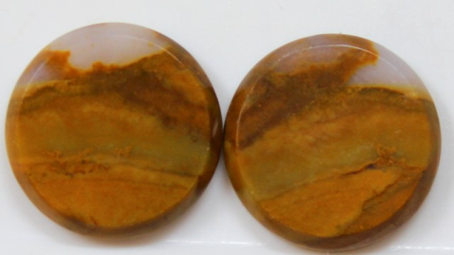 21.40 CTS JASPER PAIR POLISHED STONES GREAT RANGE IN STORE