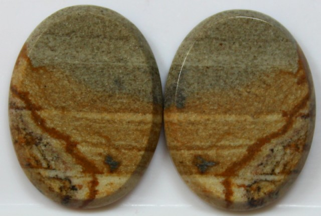 34.00 CTS JASPER PAIR POLISHED STONES GREAT RANGE IN STORE