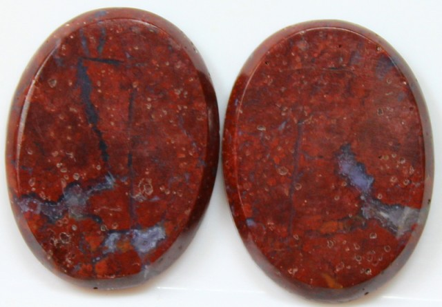 27.75 CTS JASPER PAIR POLISHED STONES GREAT RANGE IN STORE
