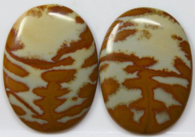 43.50 CTS JASPER PAIR POLISHED STONES GREAT RANGE IN STORE