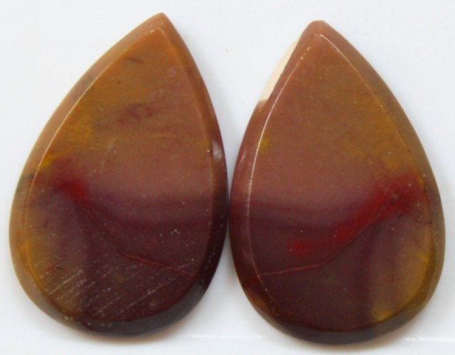 32.40 CTS JASPER PAIR POLISHED STONES GREAT RANGE IN STORE