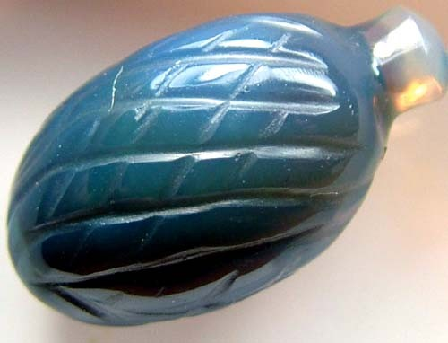 BLACK OPAL VASE CARVING  13 CTS [MGW1444 ]