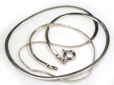 FLAT SNAKE CHAIN STERLING SILVER CHAIN  RL71