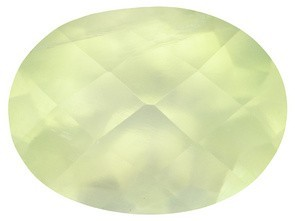 Actual gem photo, very pretty lemon-lime color on this Designer Gem 2.80 CTW Prehnite from YOURGIFTSTOP