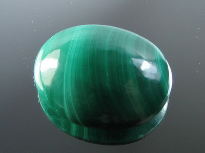 NATURAL GREEN MALACHITE  OVAL/CABOCHON  19.28 CTS