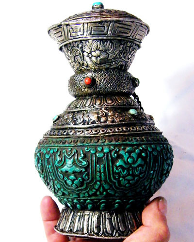 ANTIQUE BREWED OPIUM WATER CONTAINER 300YRS  5615 CTS GWF 35