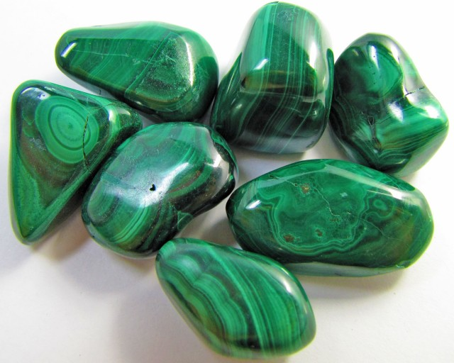 150 GRAMS TUMBLED  MALACHITE GEMSTONE  GG 1406