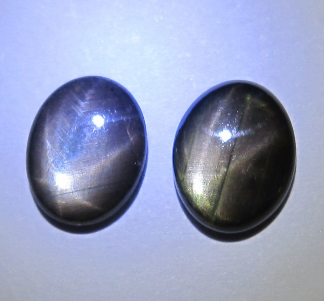 4.41cts Natural Star Sapphire Matching Oval Cab, 2pcs