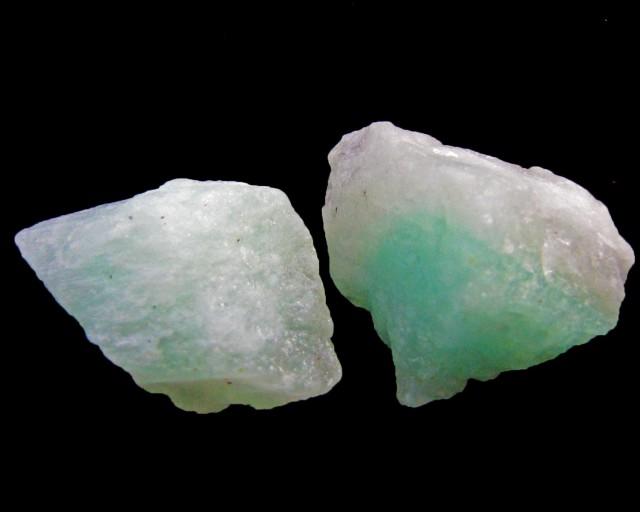 101 Cts  2 PC Russian emerald rough   MYGM 1433