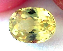 1.2ct Stunning Yellowish-Green Oval Mali Garnet VVS TH153 G222