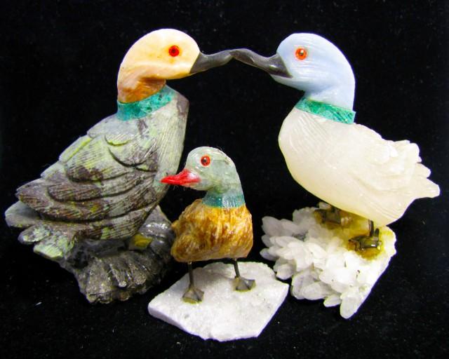 326 grams Parcel Three Duck carvings Peru  AGR 503