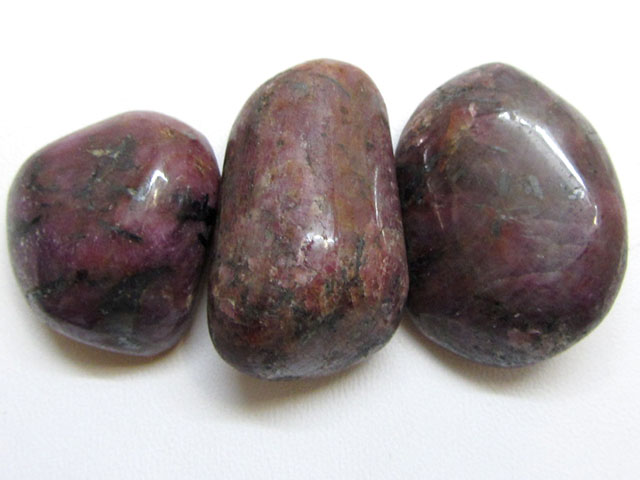 250 Cts 3  Natural ruby tumbled polished Specimen  GG 1608