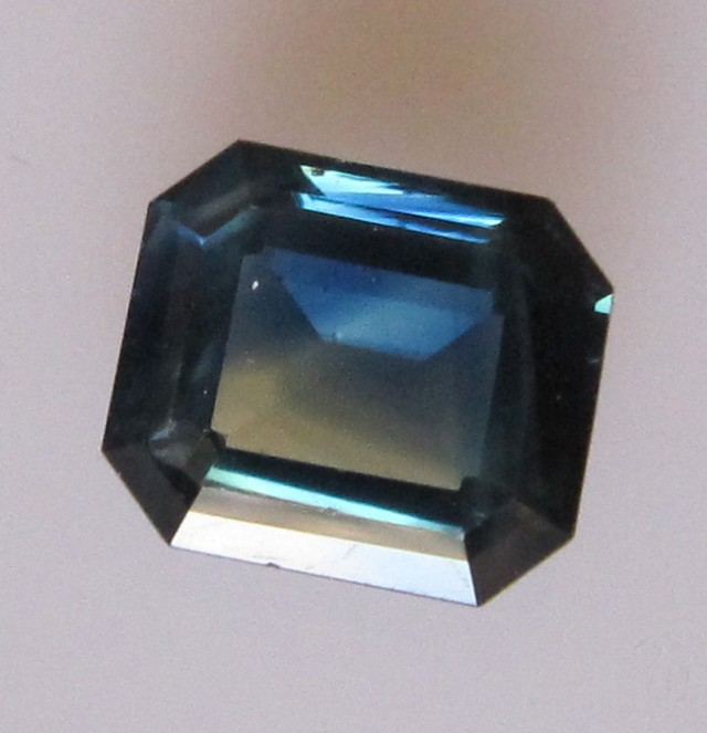 2.83cts Natural Australian Parti Sapphire Emerald Cut