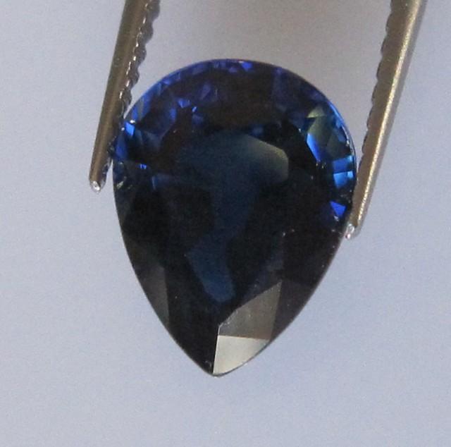 2.21cts Natural Australian Blue Sapphire Pear Cut