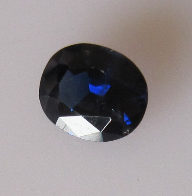 0.91cts Natural Australian Blue Sapphire Oval Cut