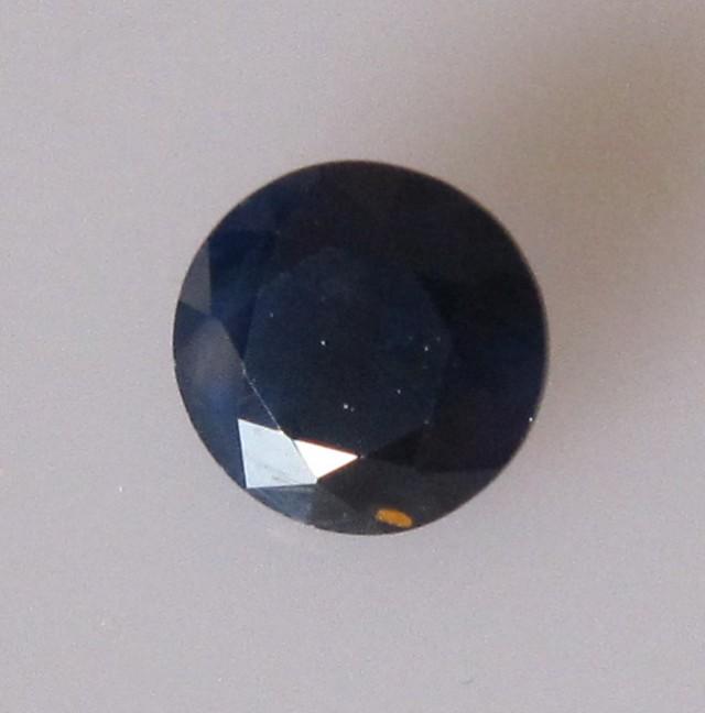 0.79cts Natural Australian Blue Sapphire Round Cut