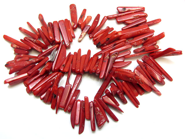500  CTS RED WILD CORAL BEADS 40 CM LENGTH  GG 1697
