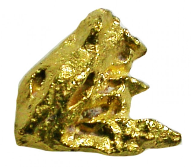 0.49 GRAMS RARE SMALL GOLD CRYSTAL SPECIMEN -VENEZUELA [G]