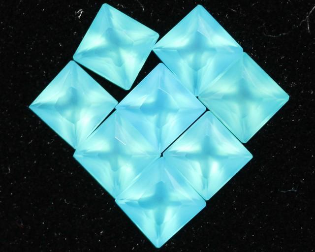 2.2 Cts  pacrel Sq  4x4 mm chalcedony GG 1745