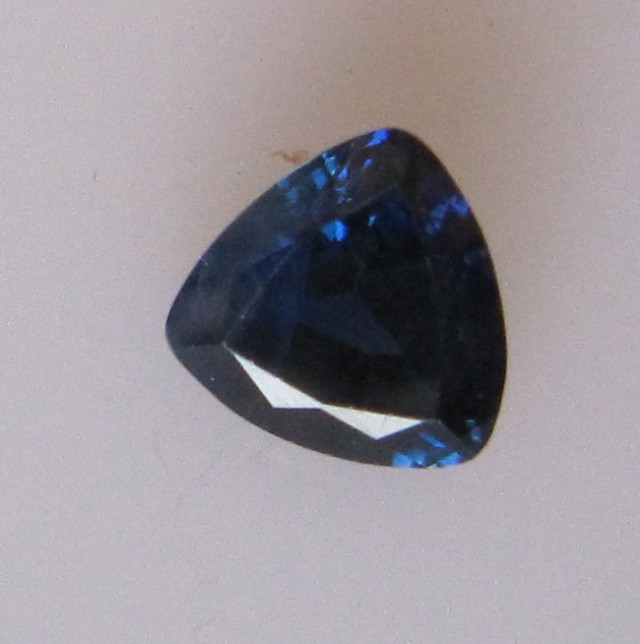 0.72cts Natural Australian Blue Sapphire Trillion Cut