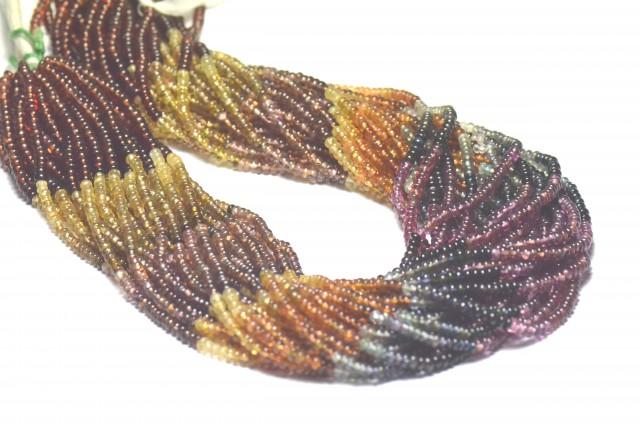 Tunduru Garnet AAA smooth beads 2.5mm Color A 13