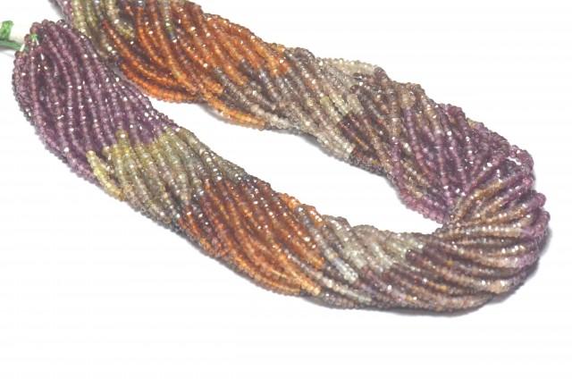 Tunduru Garnet 2 - 2.5mm mixed AAA faceted beads13.5