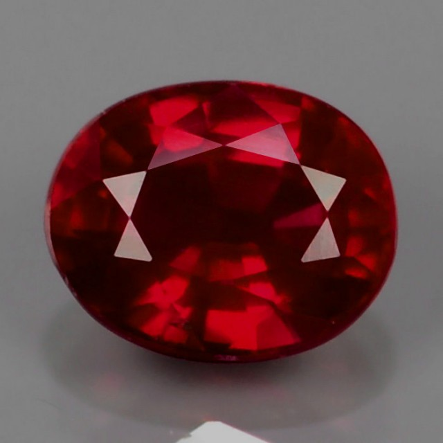 Very nice pair of natural facetted ruby 3,67cts