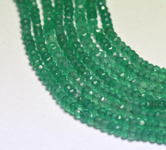 3mm 13.5 inch line green onyx beads