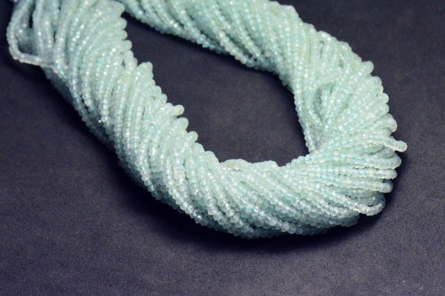 "SALE  2mm 13"" line BLUE AQUAMARINE AAA faceted beads AQ006"