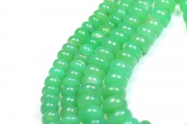 bead length #JL8063 6~8mm Australian Chrysoprase Rough Cut Irregular Bead 12 beads