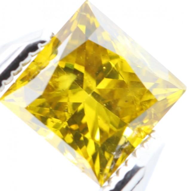 TOP RARE SPARKLING CANARY YELLOW NATURAL DIAMOND 1.02Ct