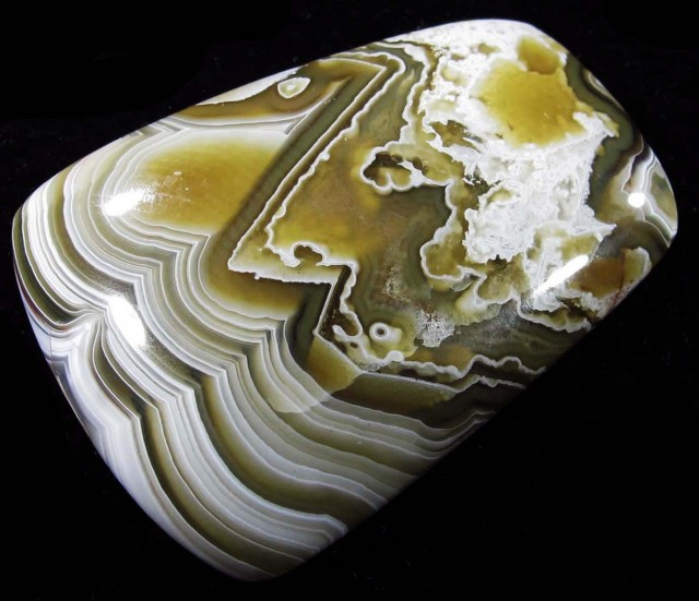 34.80 CTS TOP LAGUNA LACE AGATE FROM MEXICO [ST8072]