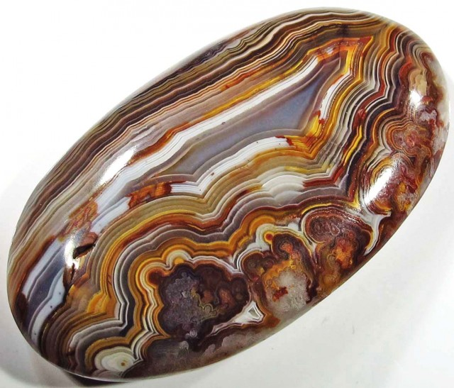 30.20 CTS TOP LAGUNA LACE AGATE FROM MEXICO [ST8081]