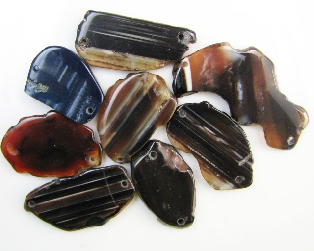 425Cts 8 parcel   Agate   Beads   GG 2052