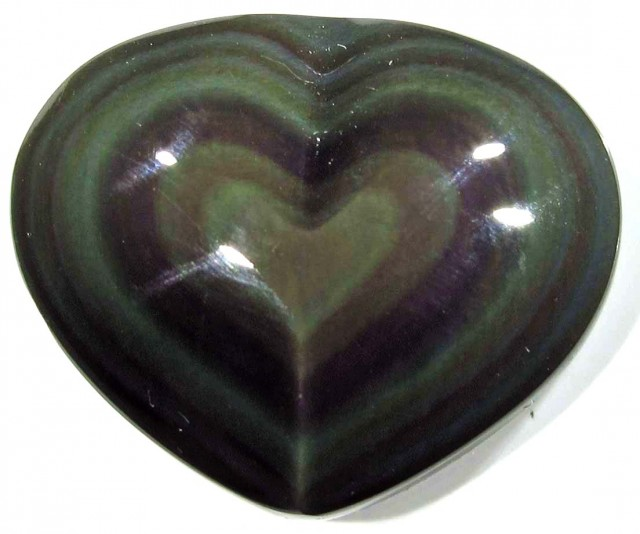26.97 CTS  RAINBOW OBSIDIAN HEARTS -IRIDESCENCENT [MGW4107]