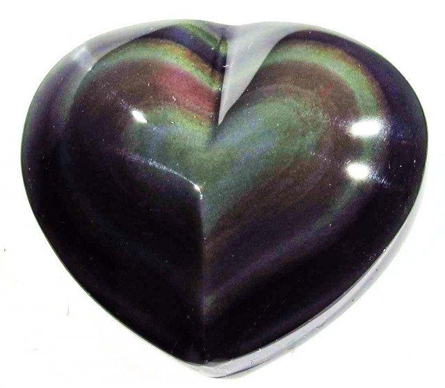 40.73 CTS  RAINBOW OBSIDIAN HEARTS -IRIDESCENCENT [MGW4115]