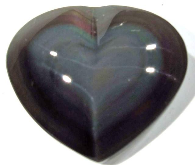 29.65 CTS  RAINBOW OBSIDIAN HEARTS -IRIDESCENCENT [MGW4118]