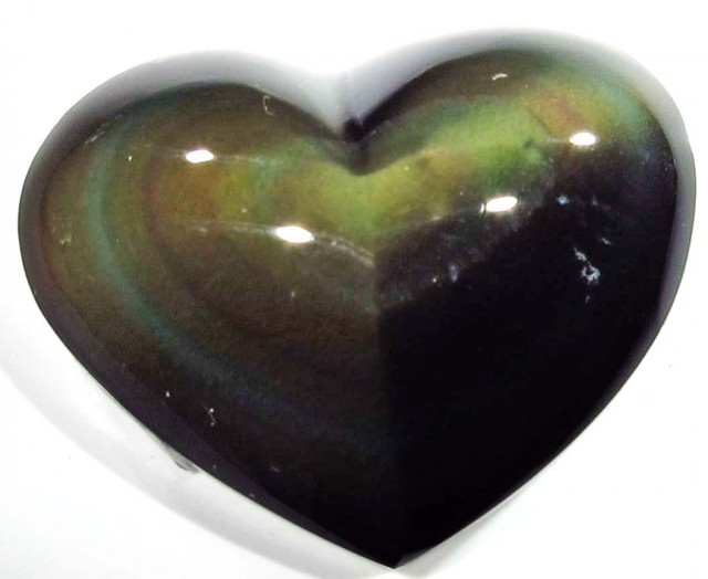 42.10 CTS  RAINBOW OBSIDIAN HEARTS -IRIDESCENCENT [MGW4120]