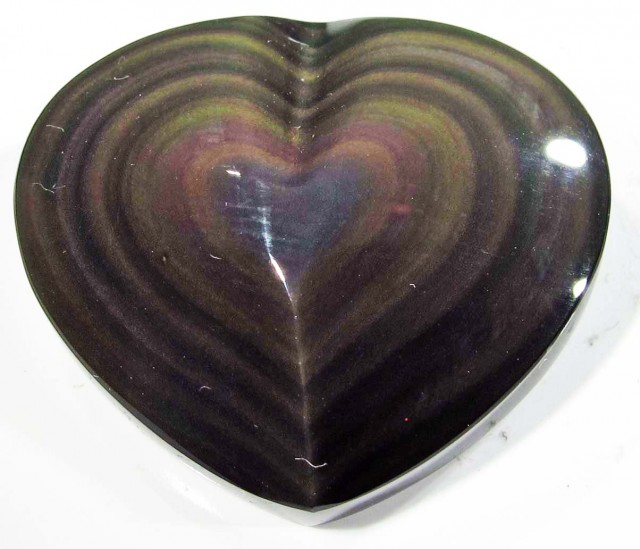 35.84 CTS  RAINBOW OBSIDIAN HEARTS -IRIDESCENCENT [MGW4124]
