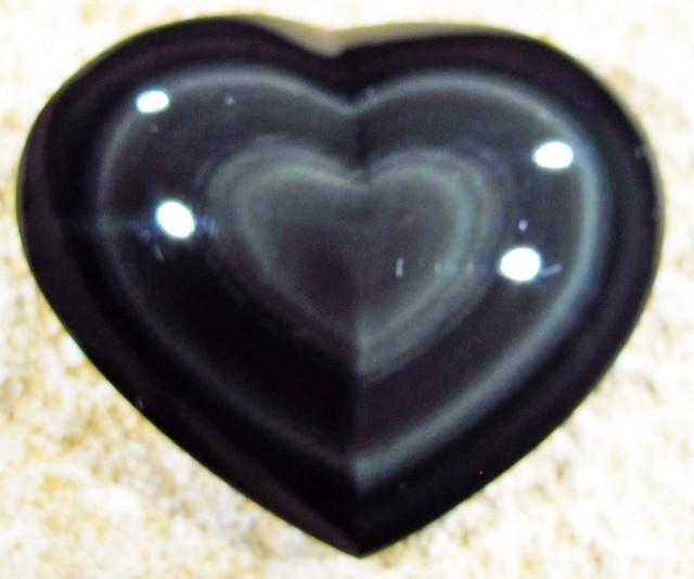 39.60 CTS  RAINBOW OBSIDIAN HEARTS -IRIDESCENCENT [MGW4135]